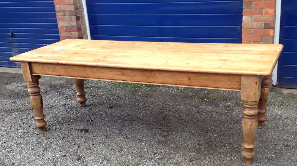 Ordinaire Large Victorian Farmhouse Table Pine Seats 10 Antique Kitchen Tables ...
