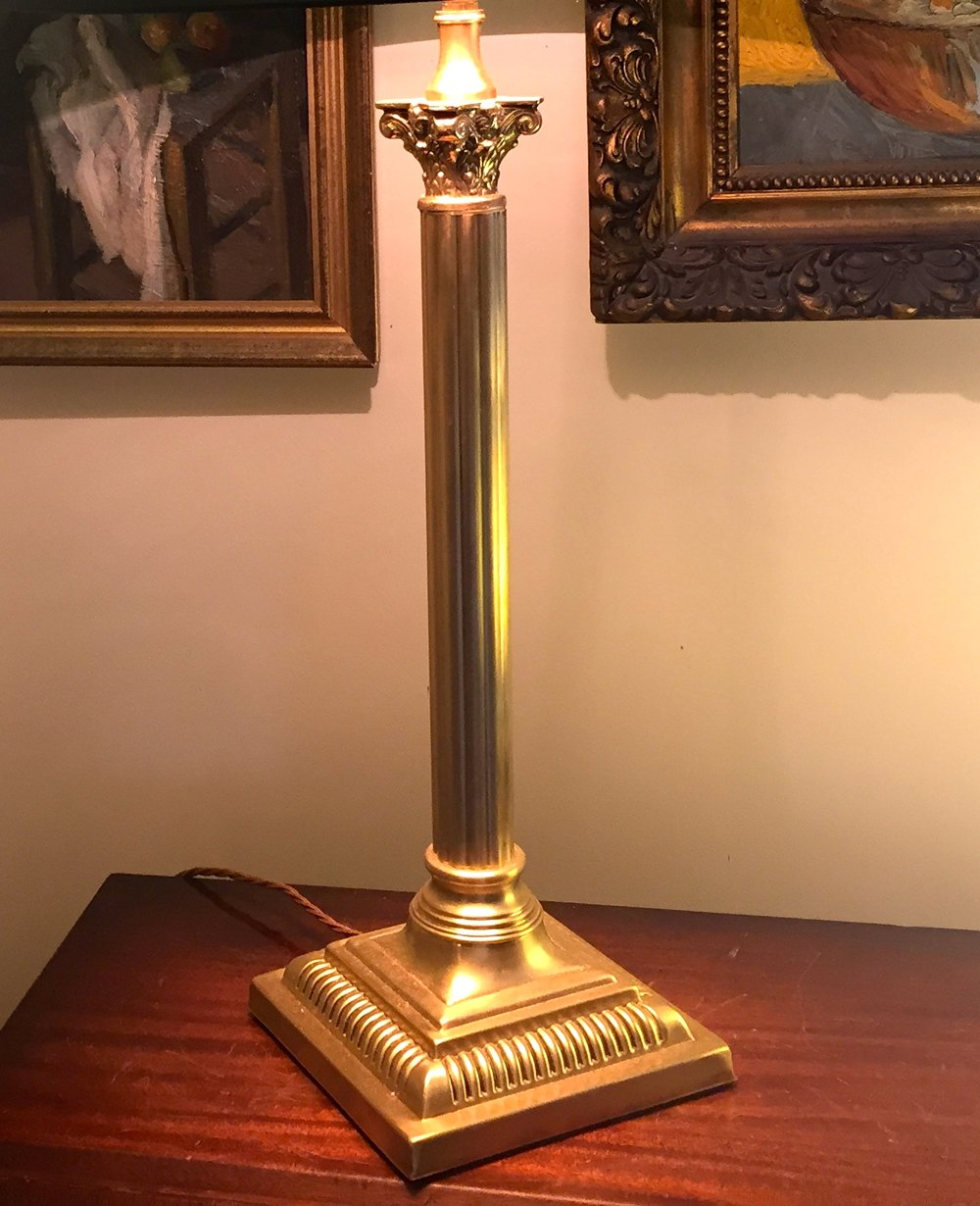 Antiques atlas tall handsome corinthian column desk lamp brass tall handsome corinthian column desk lamp brass antique lighting table lamps geotapseo Choice Image