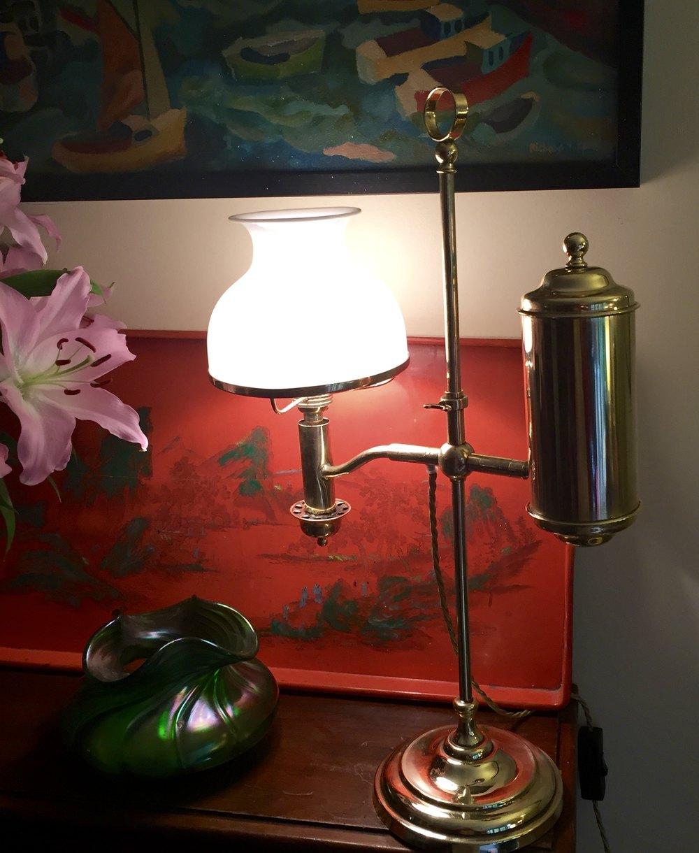 Excellent Antiques Atlas Traditional Edwardian Student Lamp Brass Short Links Chair Design For Home Short Linksinfo