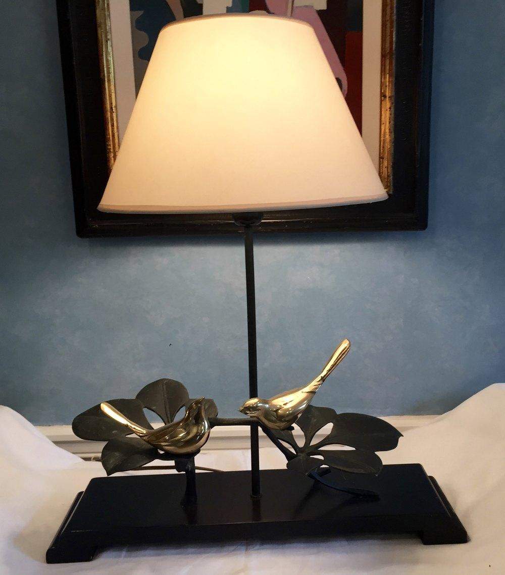 Unusual Table Lamps antiques atlas - unusual table lamp brass birds