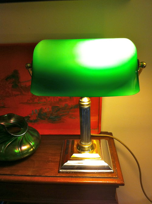 Antiques Atlas Vintage Banker S Lamp