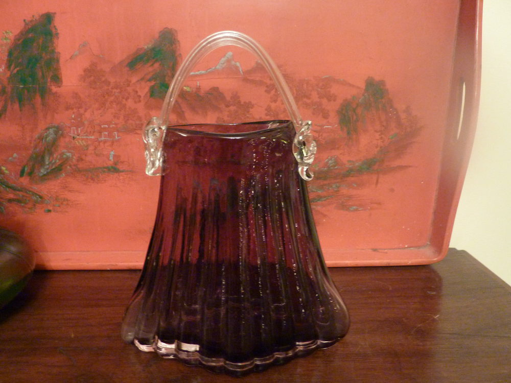 Antiques Atlas Superb Murano Handbagvase