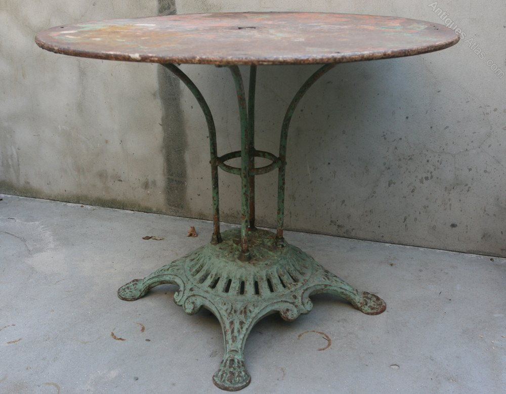 Antiques Atlas A 19th Century French Cast Iron Garden Table