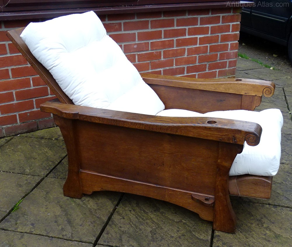 A Mouseman Reading Armchair - Antiques Atlas