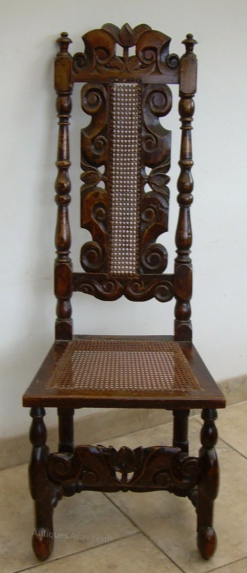 A William And Mary High Back Chair Antiques Atlas