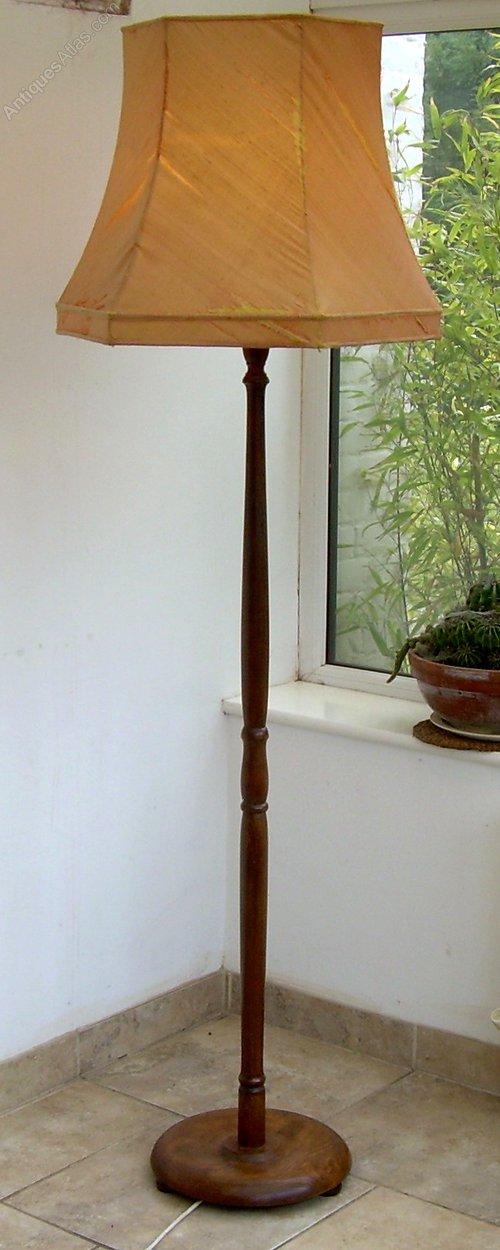 Antiques Atlas A Medium Oak Art Deco Standard Or Floor Lamp