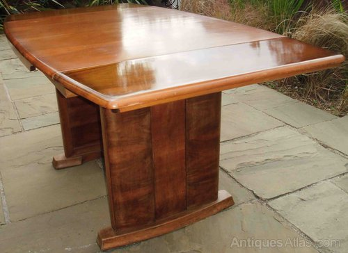 A Walnut Art Deco Extending Dining Table ...