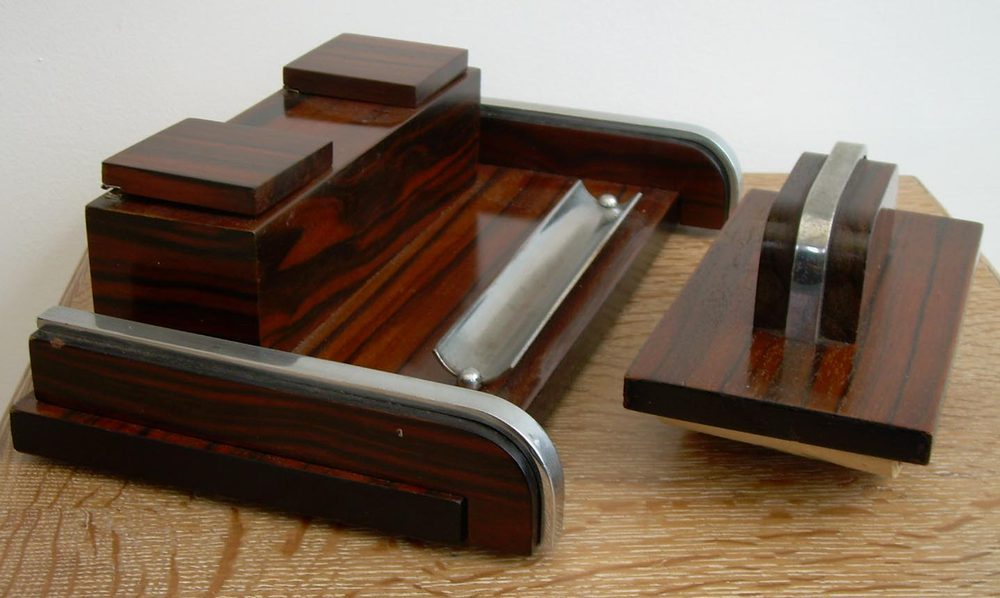 An Art Deco Desk Set Antique Desk Sets ... - Antiques Atlas - An Art Deco Desk Set