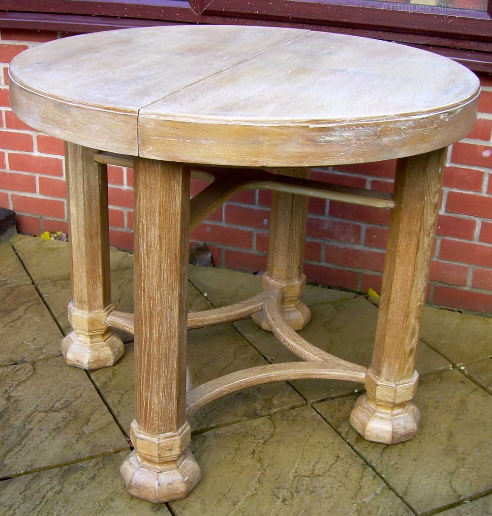 Heals Gothic Limed Oak Dining Table Antique Dining Tables