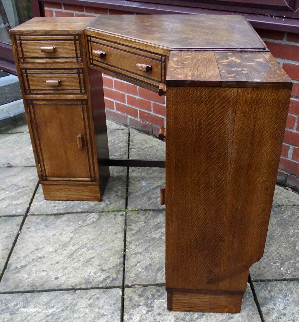 Heals Oak Corner Desk Antique Desks Heals Heal and Son desk ... - Heals Oak Corner Desk - Antiques Atlas