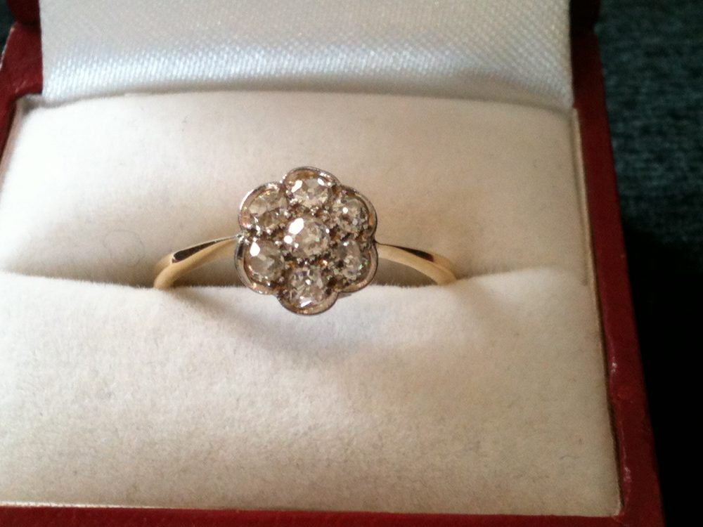 moissanite cut ring gold wedding engagement yellow rings watch daisy european oec old