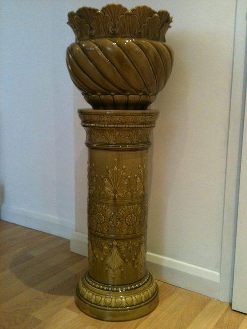 Antiques Atlas Fabulous Leeds Art Pottery Jardiniere C 1890