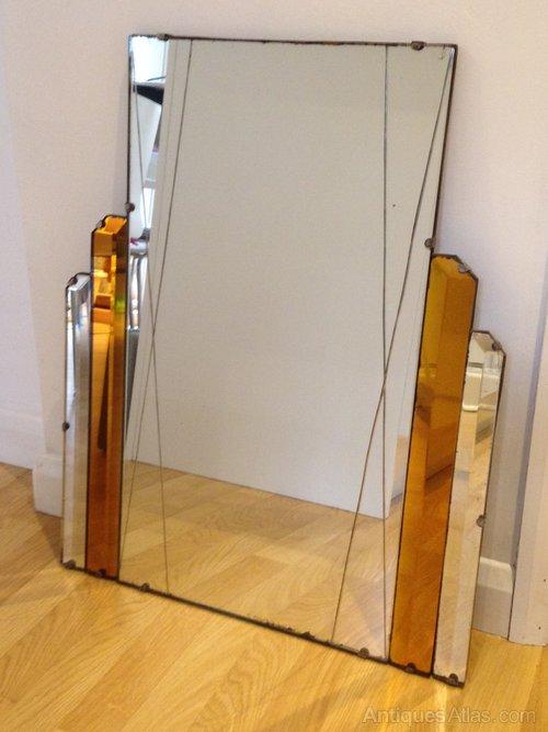 Large Original Art Deco Mirror