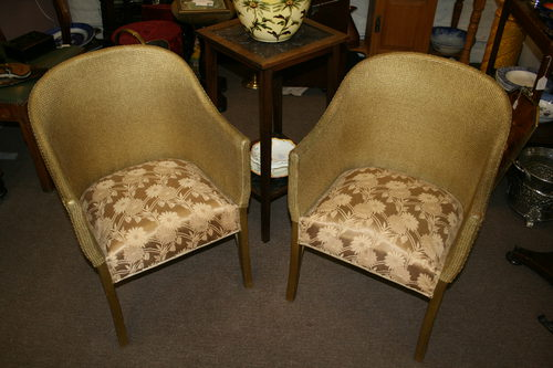 Lovely Pair Of Vintage Bedroom \'Loom\' Chairs - Antiques Atlas