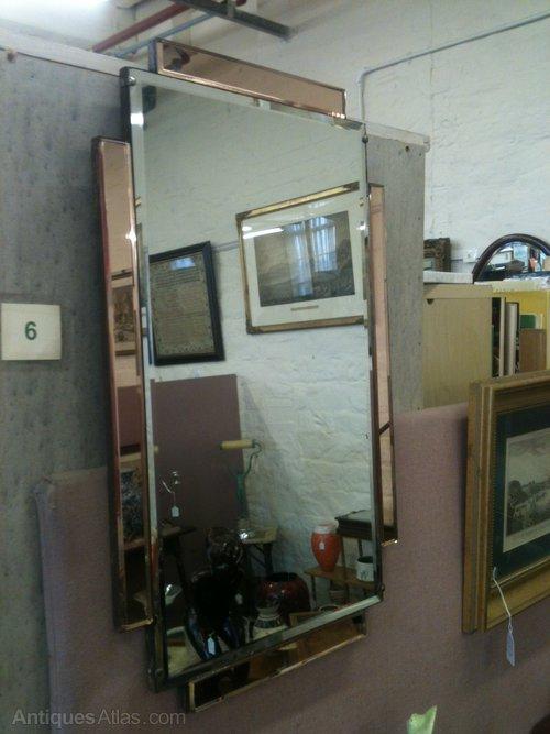 Antiques Atlas Rectangular Art Deco Wall Mirror