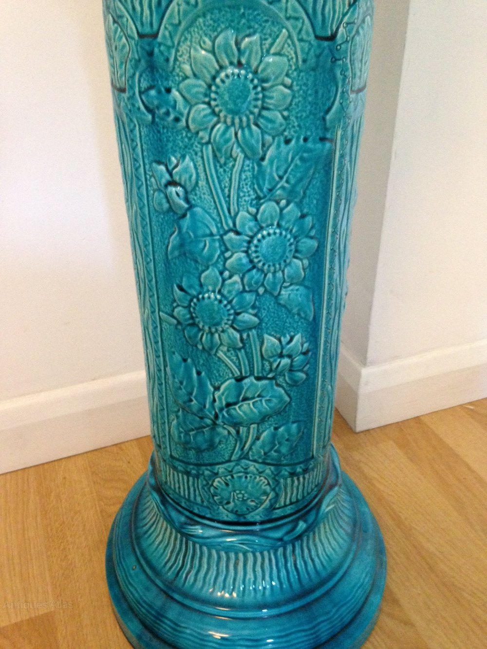 Antiques Atlas Turquoise Burmantofts Jardiniere Amp Stand