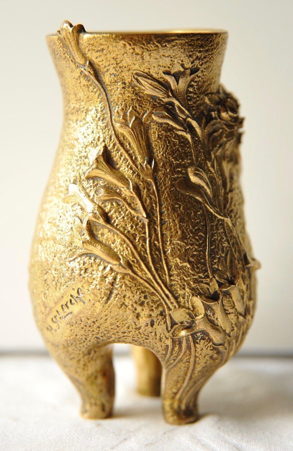Dealer Com Login >> Antiques Atlas - French Art Nouveau Bronze Vase By H.St.Lerche