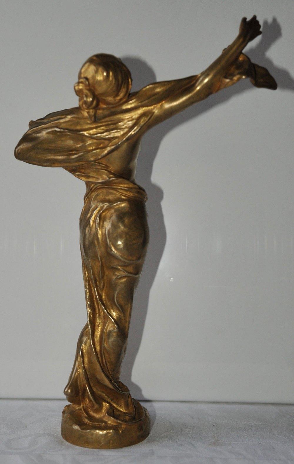 antiques atlas french art nouveau gilt bronze sculpture. Black Bedroom Furniture Sets. Home Design Ideas
