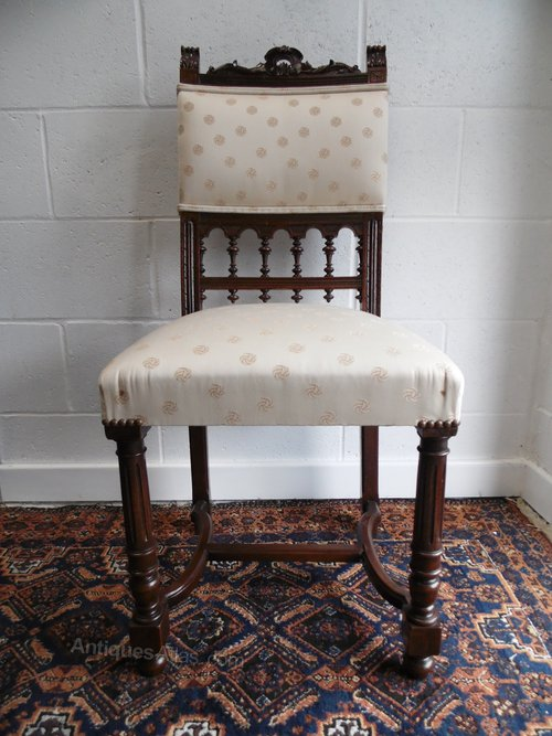 Antique Walnut French Renaissance Henry II Chairs