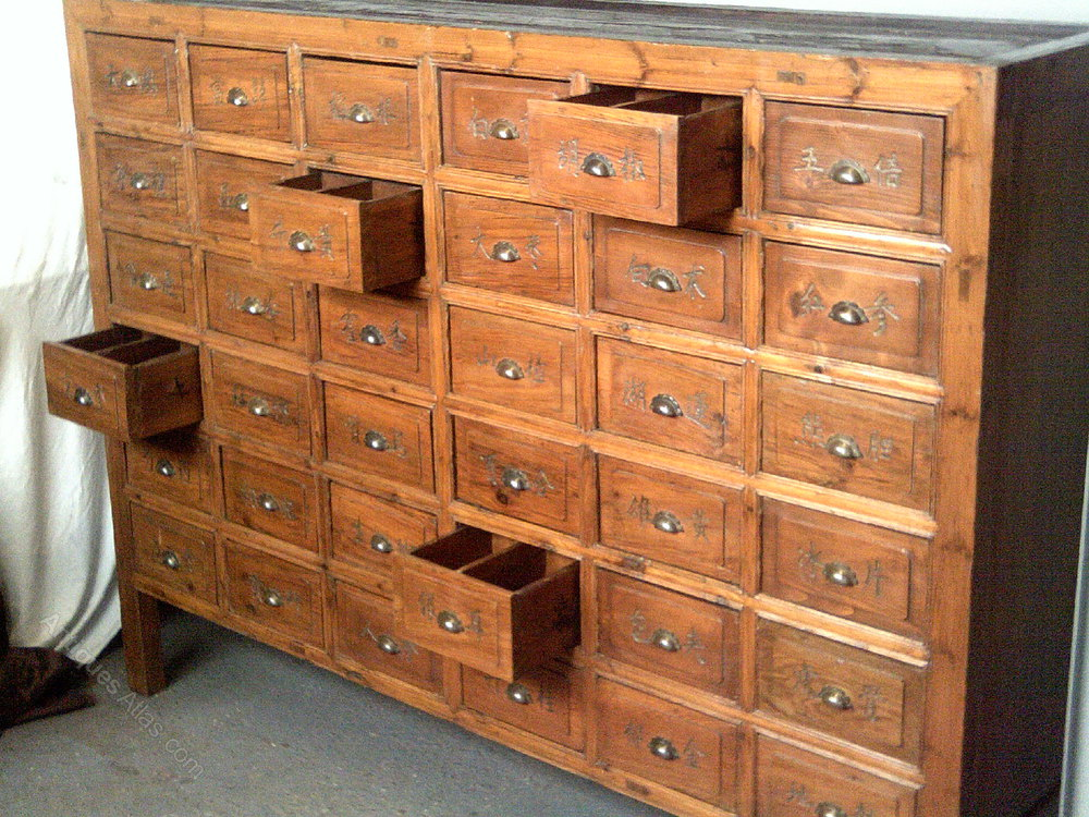 Apothecary Bank Of Drawers Cabinet - Antiques Atlas
