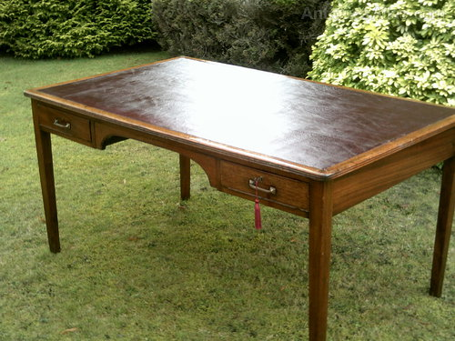 Leather Inlaid Writing Desk