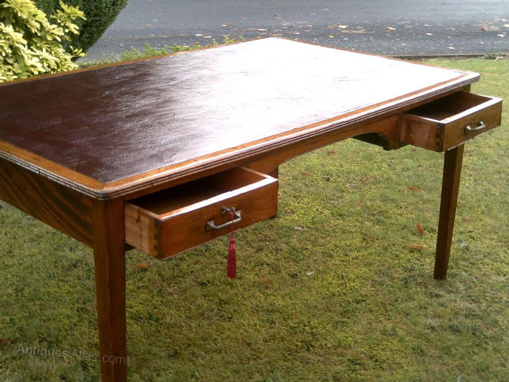 Leather Inlaid Writing Desk Antique Desks