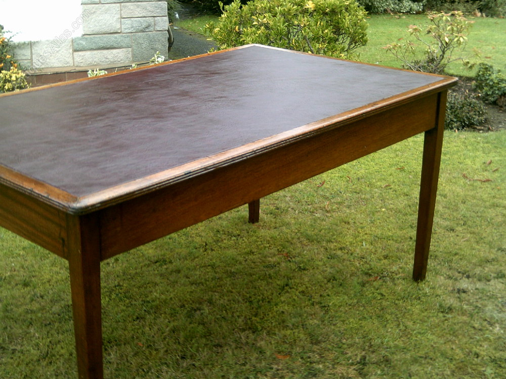 Leather Inlaid Writing Desk Antiques Atlas