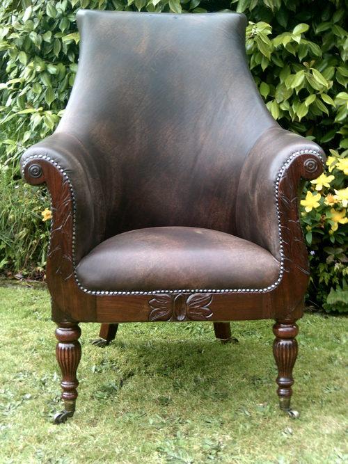 Stupendous Regency Leather Library Armchair Antiques Atlas Spiritservingveterans Wood Chair Design Ideas Spiritservingveteransorg