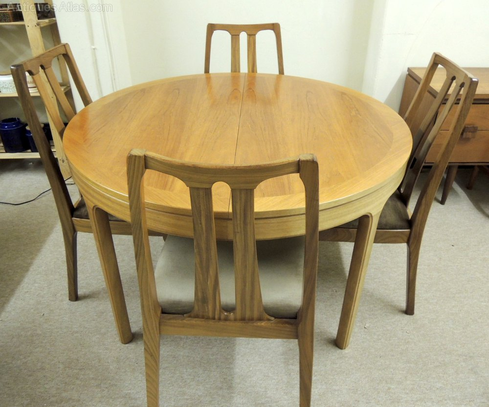 Antiques Atlas Nathan Extending Dining Table 6 Chairs & Nathan Teak Dining Table - Dining Tables