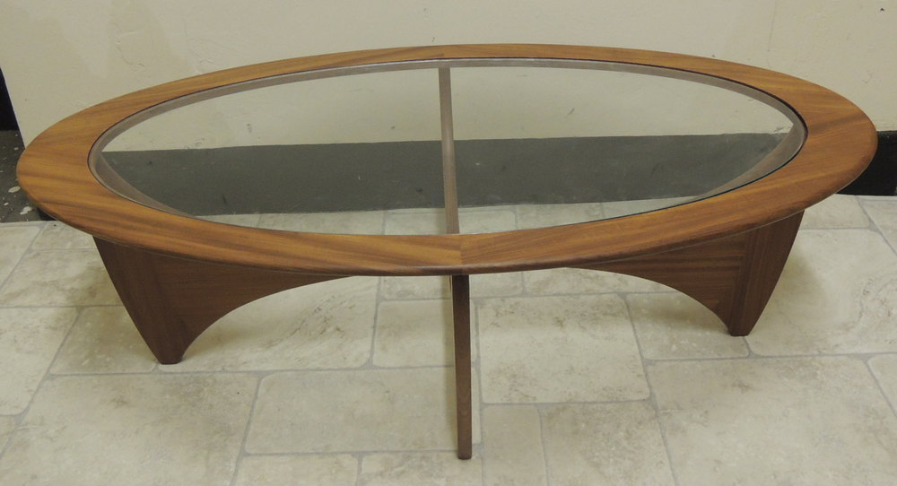 Retro 1960s G Plan Oval Shaped Astro Table