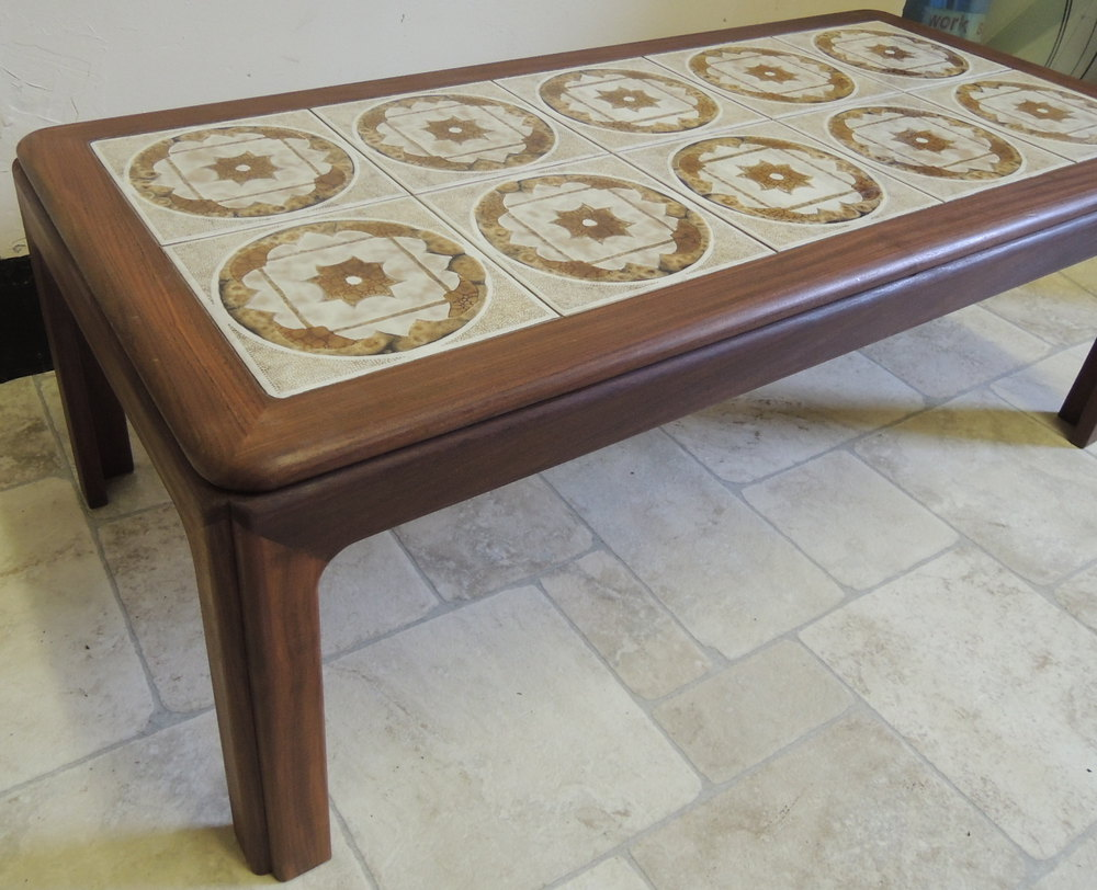 Photos Retro G Plan Tile Top Rectangular Coffee Table