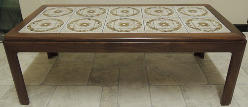 Retro G Plan Tile Top Rectangular Coffee Table