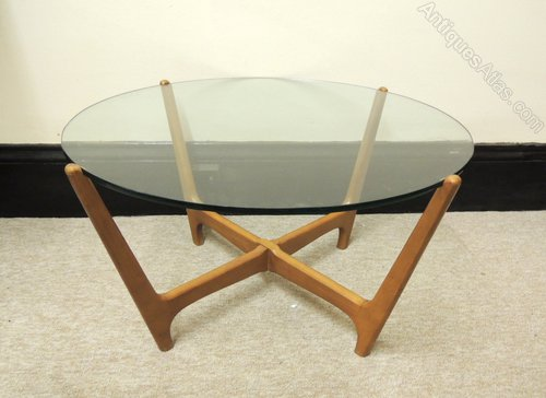 Antiques Atlas Retro Glass Top Coffee Table