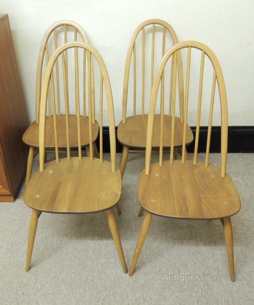 Antiques Atlas Retro Set Of 4 Ercol Quaker Dining Chairs