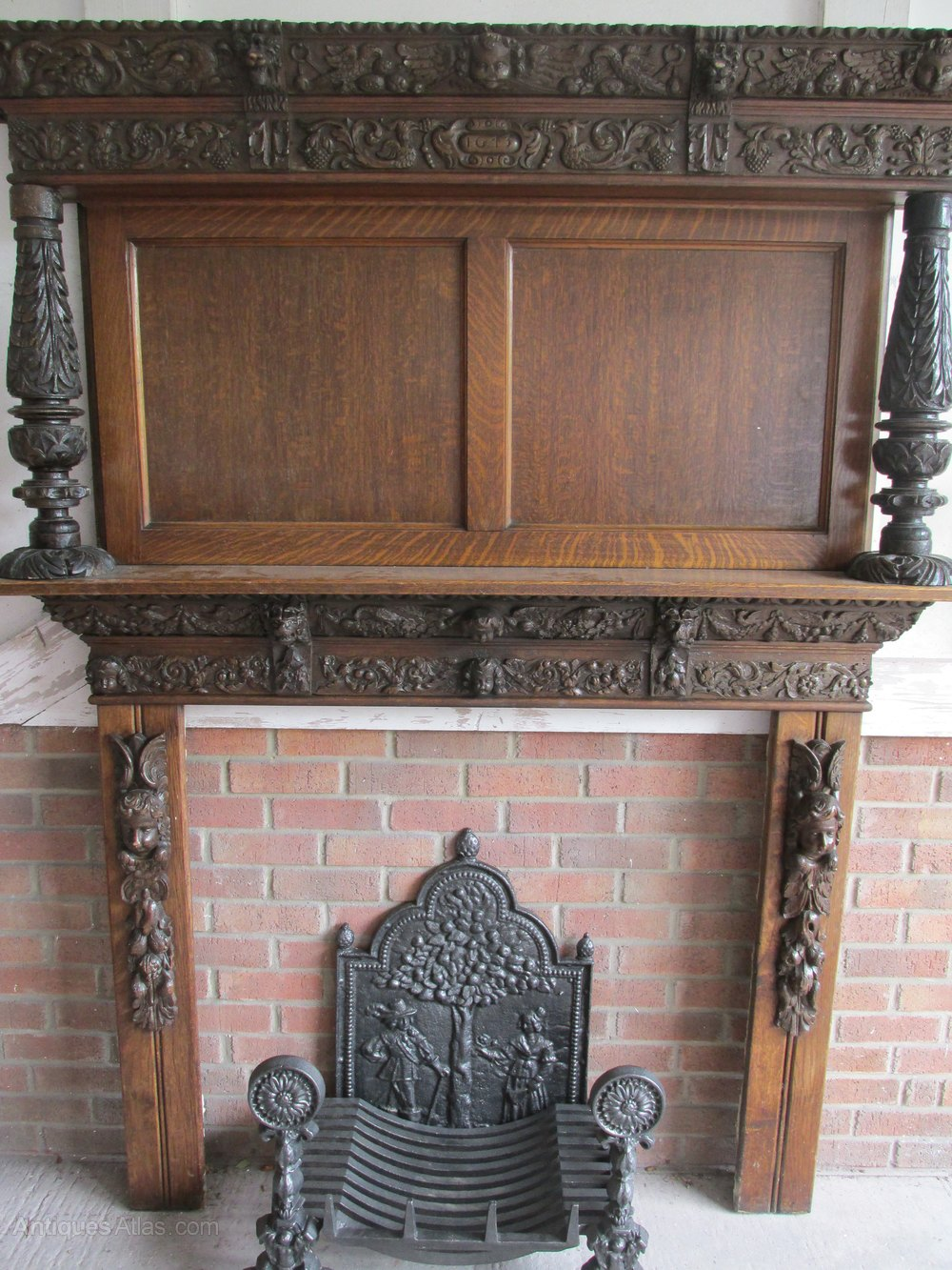 antiques atlas oak fire surround 17th century wood carvings