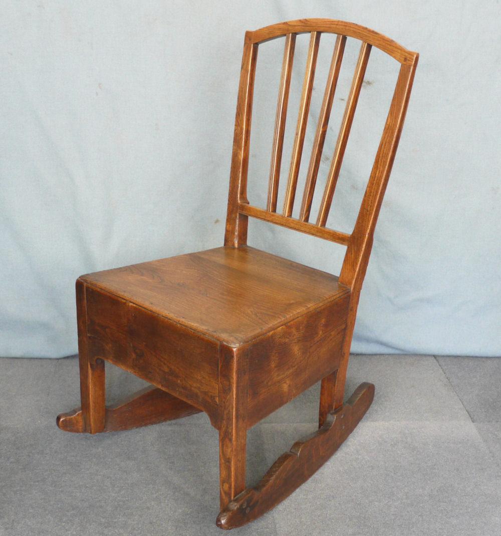 elm nursing rocking chair antiques atlas. Black Bedroom Furniture Sets. Home Design Ideas