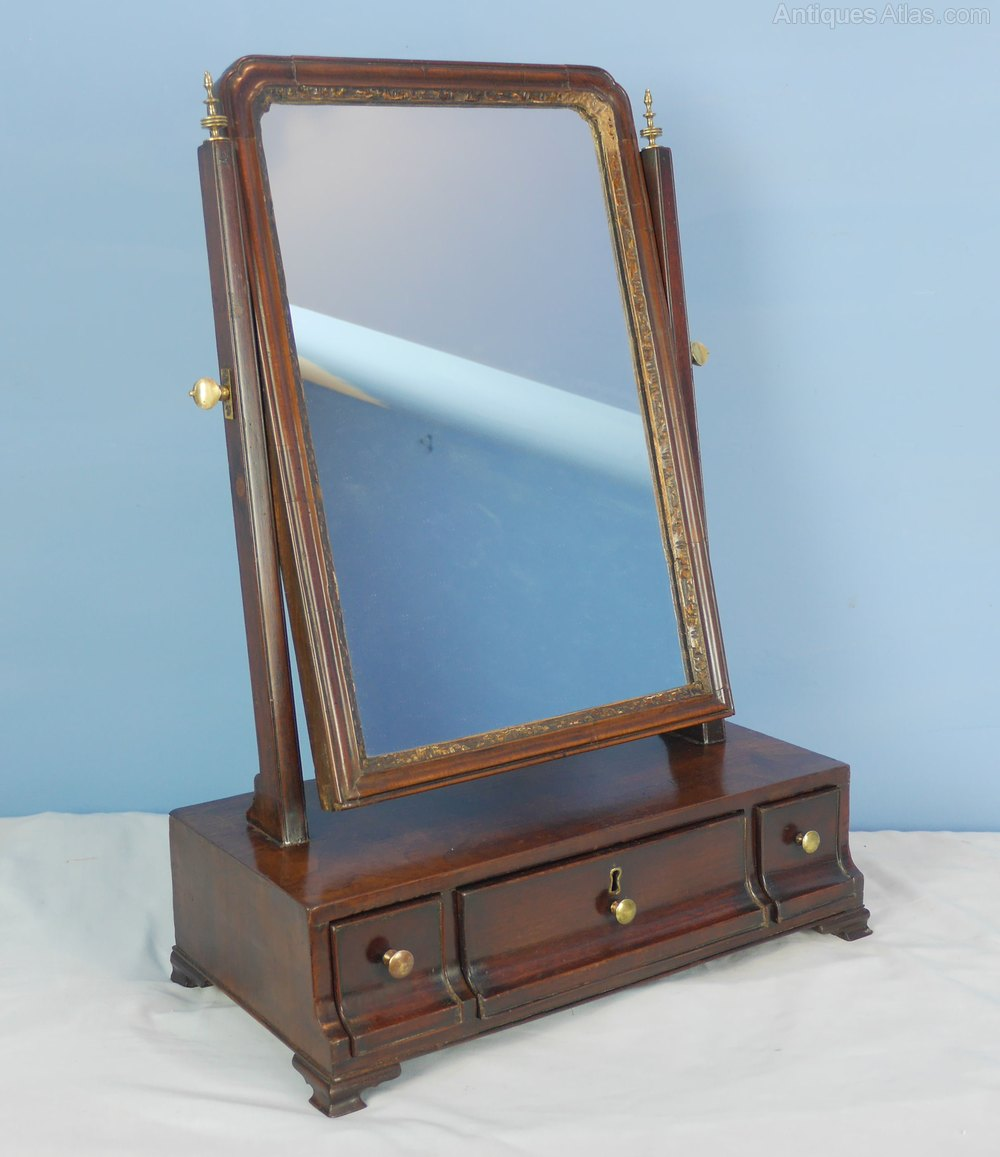 antiques atlas georgian mahogany dressing toilet mirror. Black Bedroom Furniture Sets. Home Design Ideas