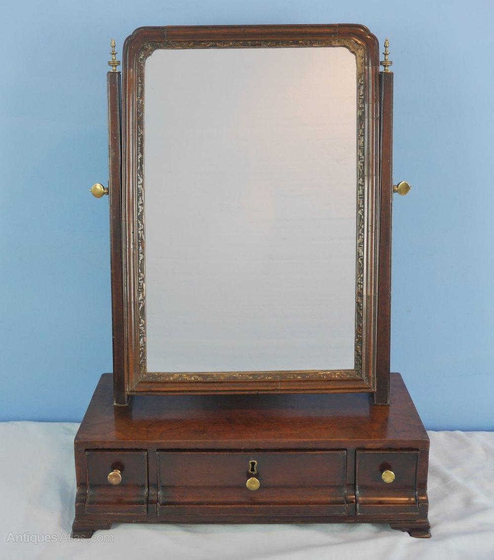 Antiques atlas georgian mahogany dressing toilet mirror for Dressing mirror