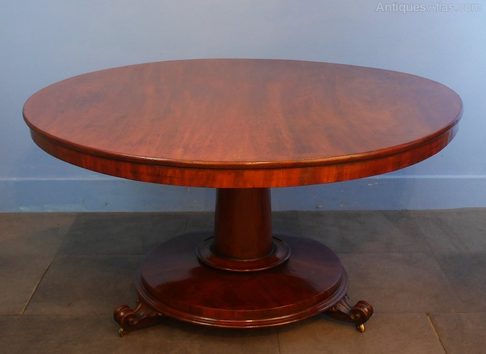 Mahogany circular dining room table antiques atlas - Circular dining room tables ...