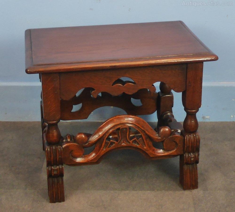 Oak Jacobean Style Coffee Table