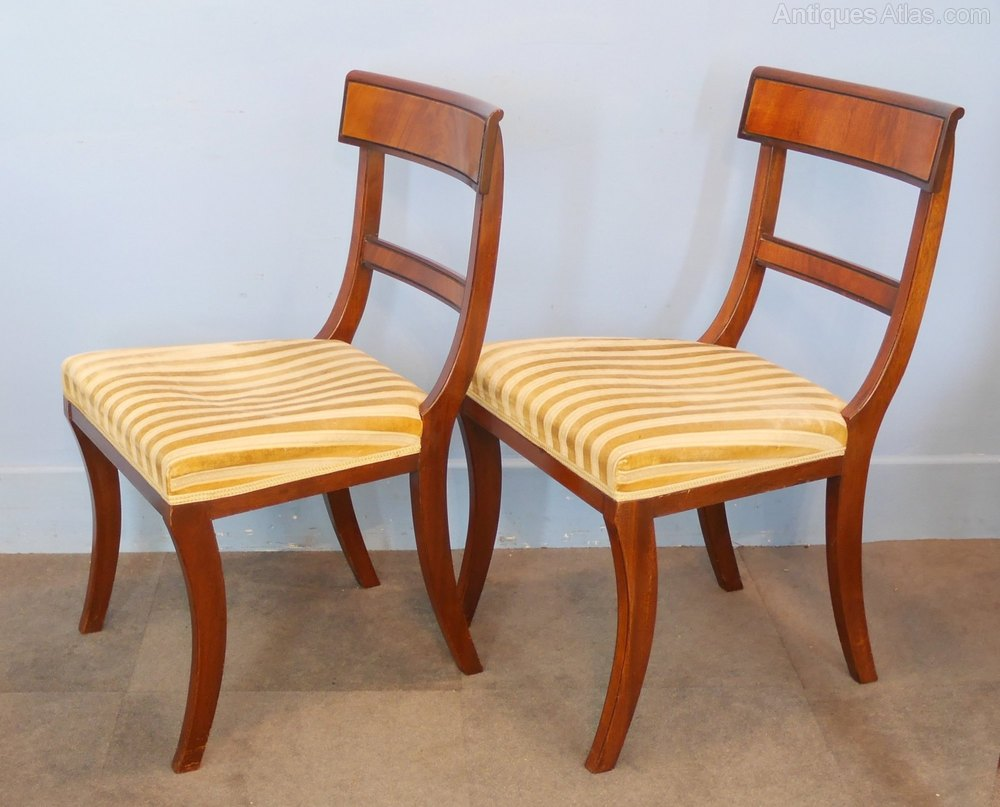 Regency Style Chairs ~ Set of six regency style mahogany dining chairs antiques