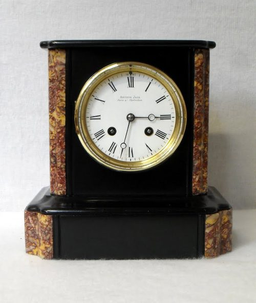 Antiques Atlas Black Slate Mantel Clock