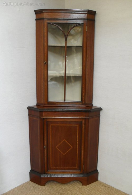 Corner Display Cabinet Antique ... - Corner Display Cabinet - Antiques Atlas