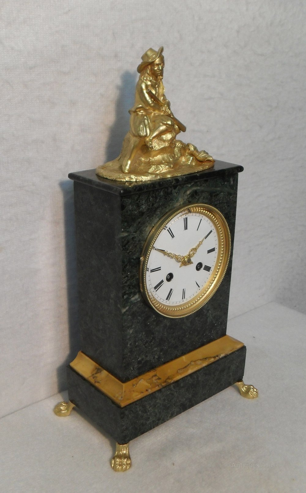 Antiques Atlas French Green Marble Mantel Clock