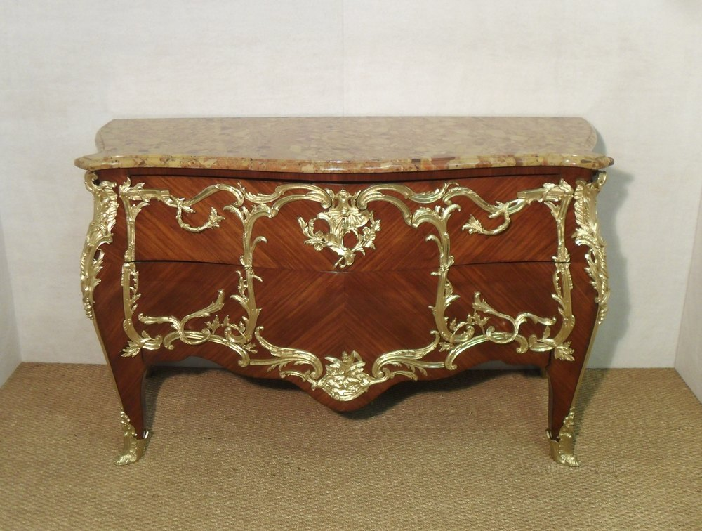 french louis xv style commode by e kahn antiques atlas. Black Bedroom Furniture Sets. Home Design Ideas