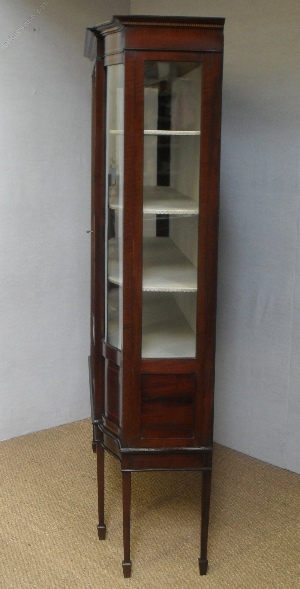 glass fronted bathroom cabinets glass fronted display cabinet antiques atlas 15868