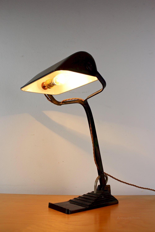 1930s Adjustable Desk / Bankers Lamp By ERPE ...