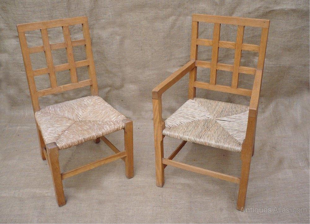 Beau 2 Childrens Lattice Back Chairs In Pale Oak ...