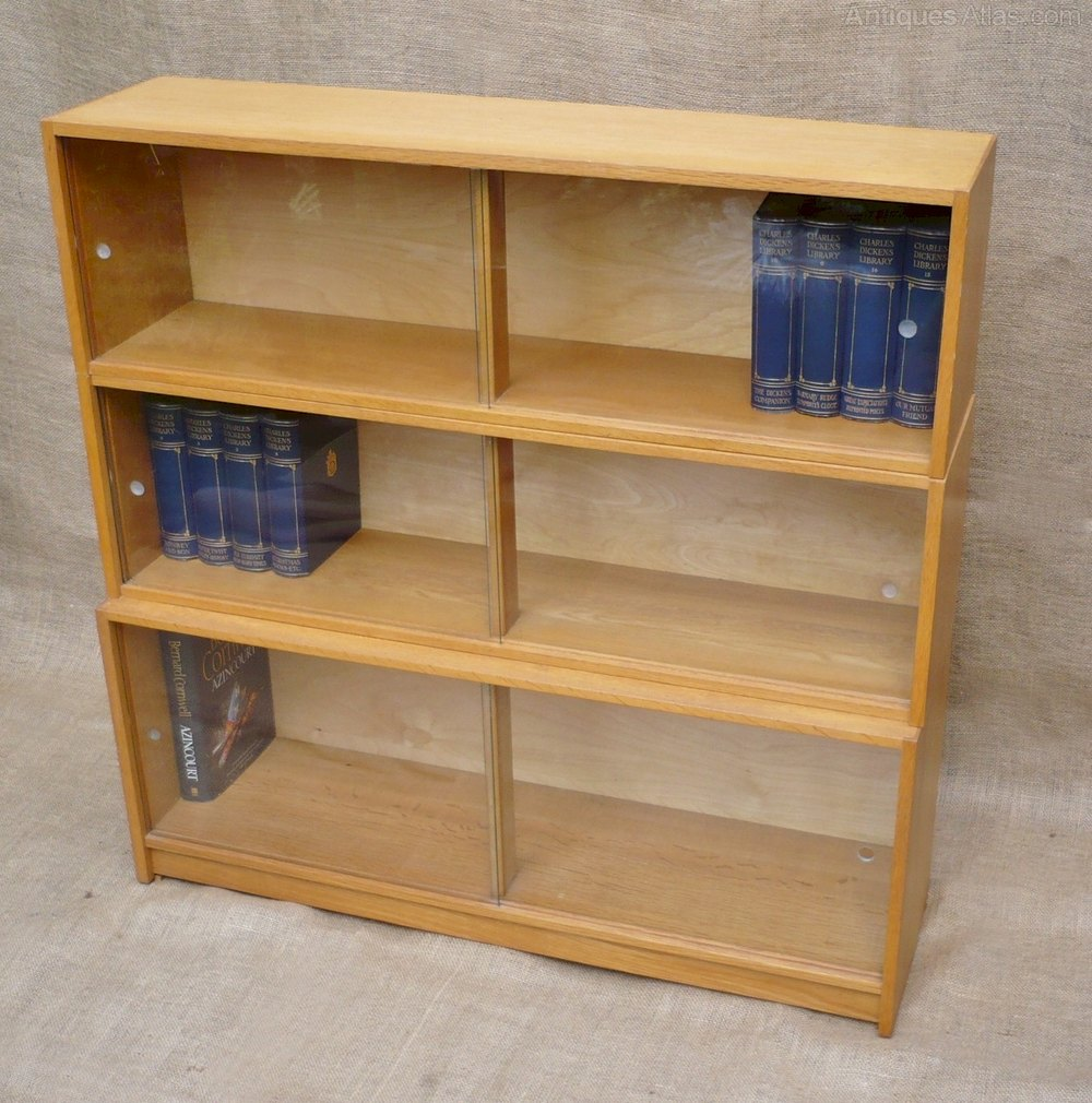 Antiques Atlas 3 Tier Sectional Bookcase In Golden Oak