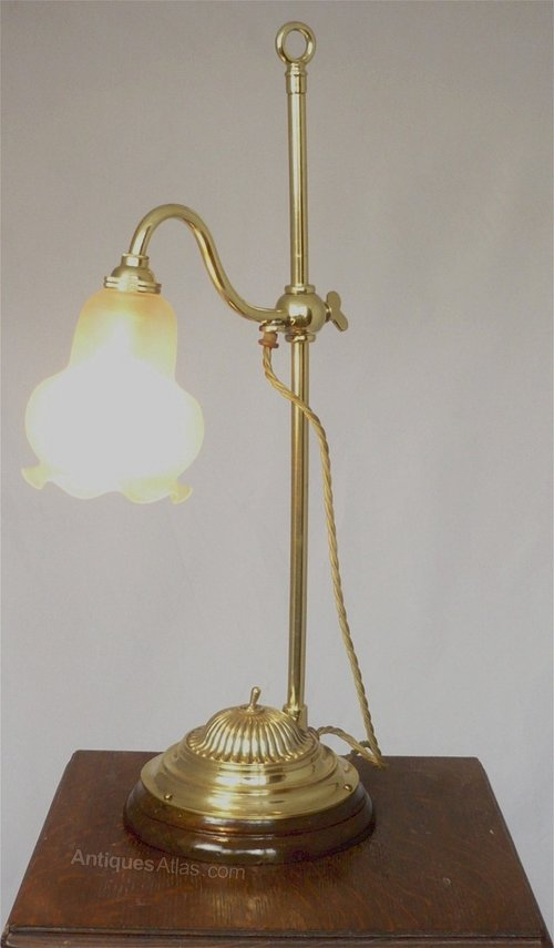 Pleasing Adjustable Desk Lamp In Brass Download Free Architecture Designs Viewormadebymaigaardcom